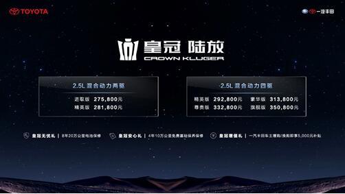 承经典 铸传奇 一汽丰田皇冠陆放耀世登场 售价27.58万元起